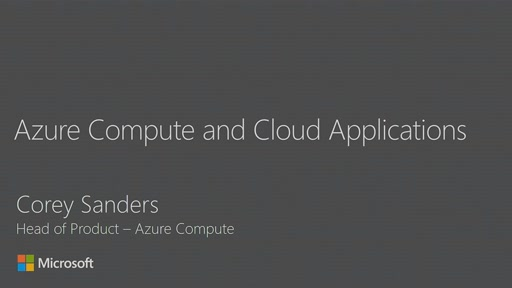 Hear about the state and future direction of the Azure Compute services