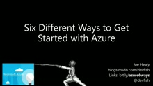 Six Ways to Obtain and Activate Azure (and counting)