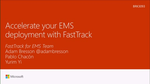 Accelerate your Microsoft Enterprise mobility and security deployment with FastTrack
