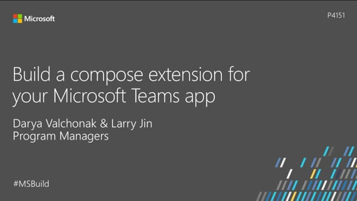 Build a compose extension for your Microsoft Teams app