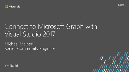 Connect to Microsoft Graph with Visual Studio 2017