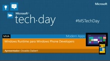 Windows Runtime para Windows Phone Developers