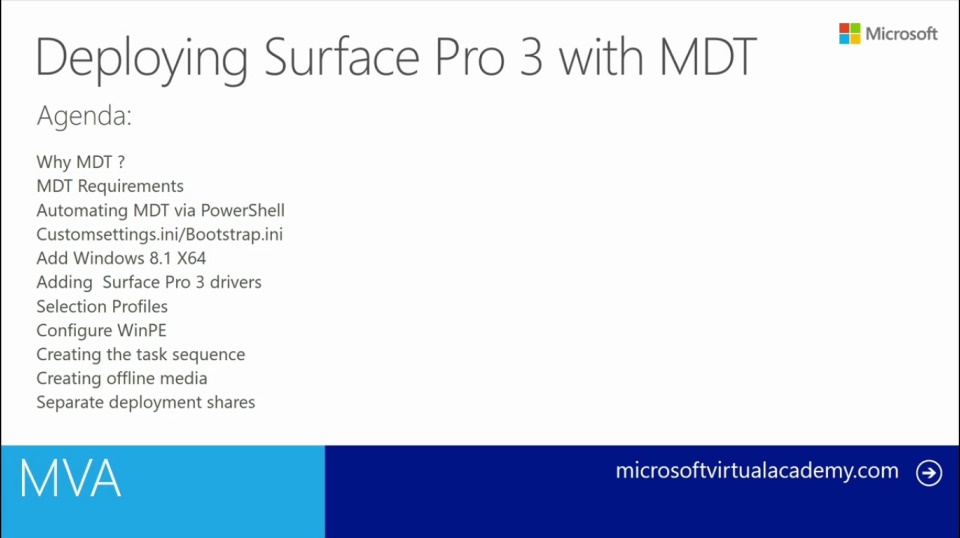 (Module 3) Deploying Surface Pro 3 with MDT