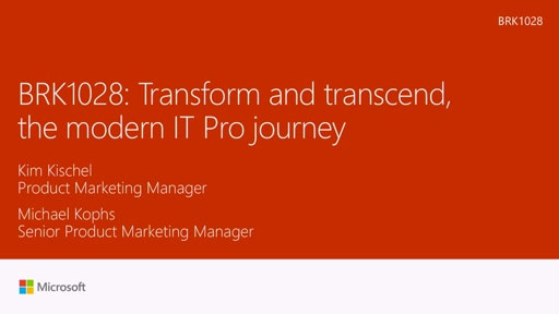 Transform and transcend: the modern IT Pro journey