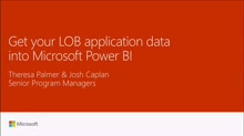 Get your LOB application data into Microsoft Power BI