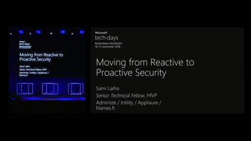 Moving from Reactive to Proactive Security