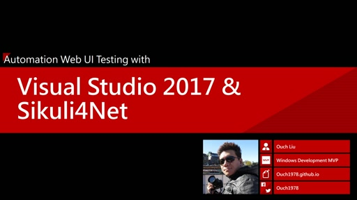 Automation Web UI Testing with Visual Studio 2017 & Sikuli4Net