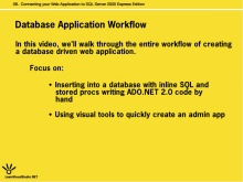 Connecting your Web Application to SQL Server 2005 Express Edition