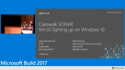 Cakewalk SONAR: Win32 lighting up on Windows 10