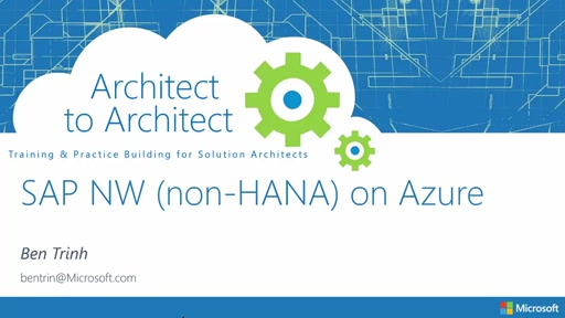 SAP Business Suites Netweaver on Azure (non-HANA) Architecture Design