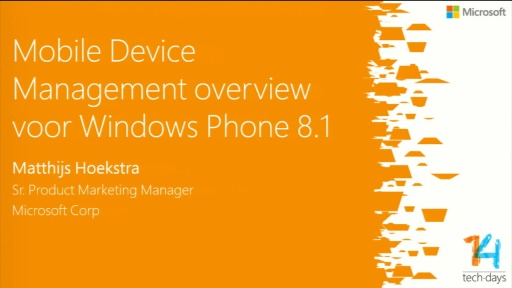 Mobile Device Management overzicht voor Windows Phone 8.1