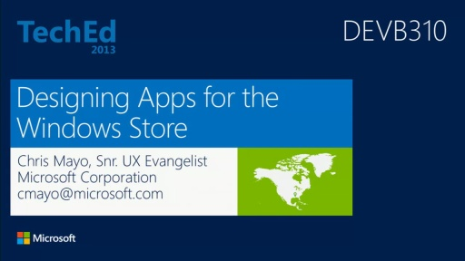 Designing Apps for the Windows Store