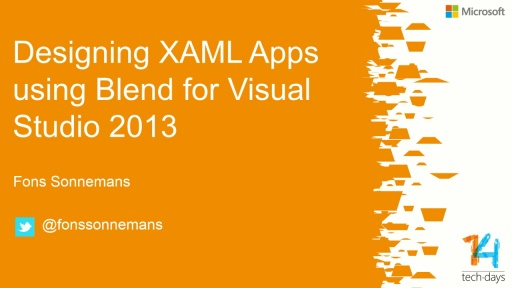 Designing XAML Apps using Blend for Visual Studio 2013