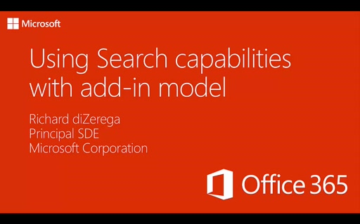 PnP Add-In Transformation Training Module 9: Using Search Capabilities with add-in model