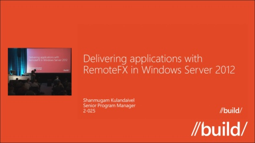 Delivering Applications with RemoteFX in Windows Server 2012