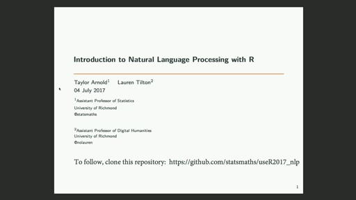 Introduction to Natural Language Processing with R II
