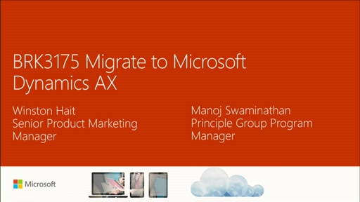 Migrate to Microsoft Dynamics AX
