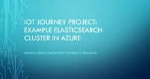 IoT Journey: Example Elasticsearch Cluster in Azure