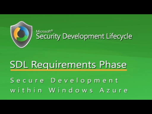 Applying SDL Requirements practices within Windows Azure