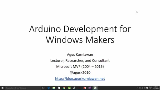 01 Agus Kurniawan -Arduino Development for Windows Makers