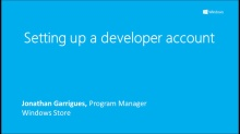 Windows Store: Setting up a developer account