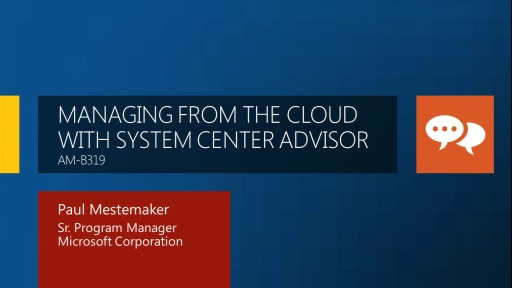 Managing from the Cloud