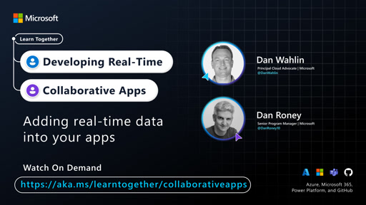 Adding real-time data into your apps with Dan Wahlin and Dan Roney