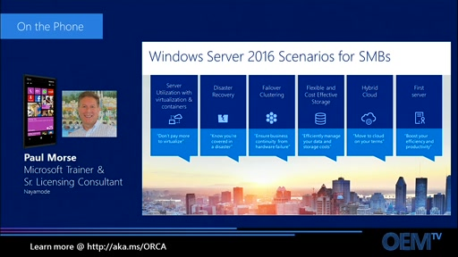 Windows Server 2016 Productivity and IT Efficiency
