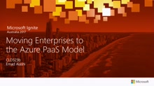 Moving Enterprises to the Azure PaaS Model