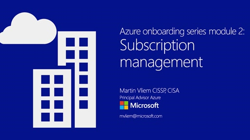 "Azure onboarding serie - deel 3 ""Subscription Management"""