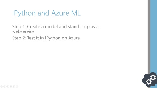Data Science Series: IPython and Azure ML