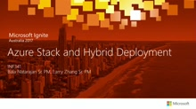 Azure Stack and Hybrid Deployment