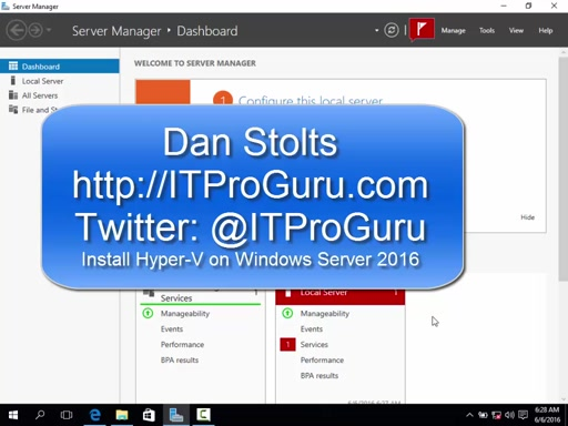 How to Install Hyper-V Role On Windows Server 2016 Step-By-Step