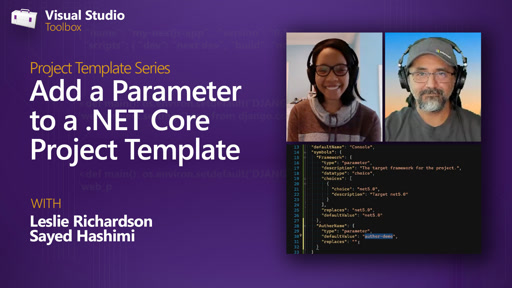 Add a Parameter to a .NET Core Project Template