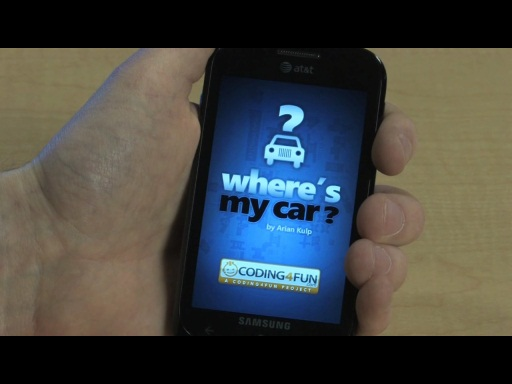 "Clint Rutkas and ""Where's My Car"" on Windows Phone 7"