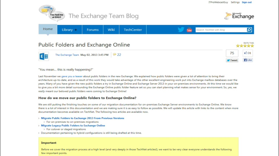 TechNet Radio: Exchange Ideas – All about Modern Public Folders