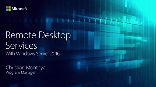 Remote Desktop Services in Windows Server 2016
