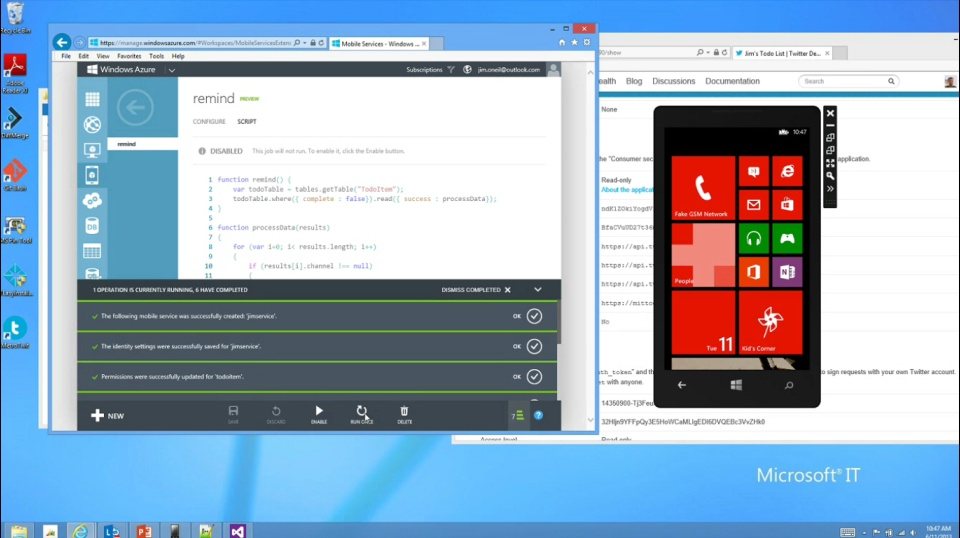 Microsoft DevRadio: (Part 24) Practical Azure with Jim O'Neil – Windows Azure Mobile Services
