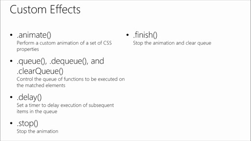 Introduction to jQuery: (05) Effects