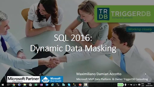 SQL 2016: Dynamic Data Masking
