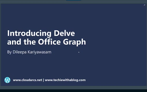 ITPRO July Session 02 - Introducing Delve & Office Graph