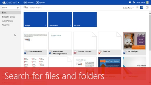 Search for files and folders