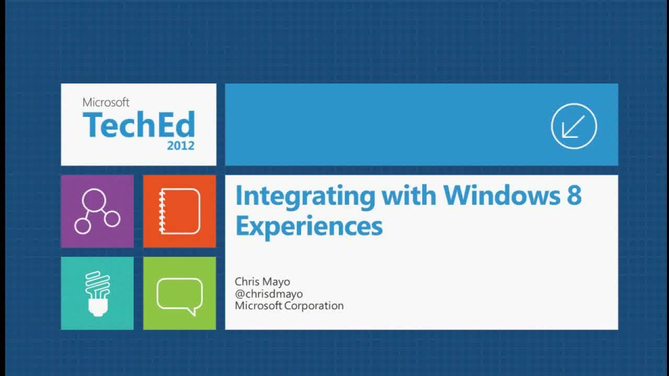 Integrating with Windows 8 Experiences
