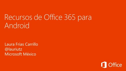 Recursos de Office 365 para Android