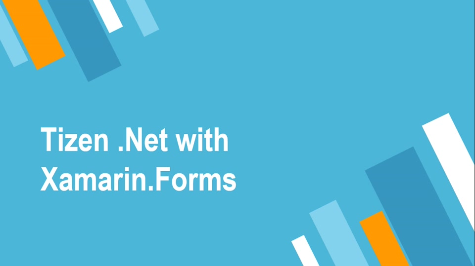 Tizen .Net with Xamarin.Forms