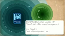 Using Windows Azure Storage with SharePoint for Document Management