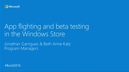 App Flighting and Beta Testing in the Windows Store