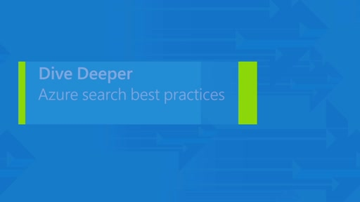Azure Search. Best practices for web and mobile applications