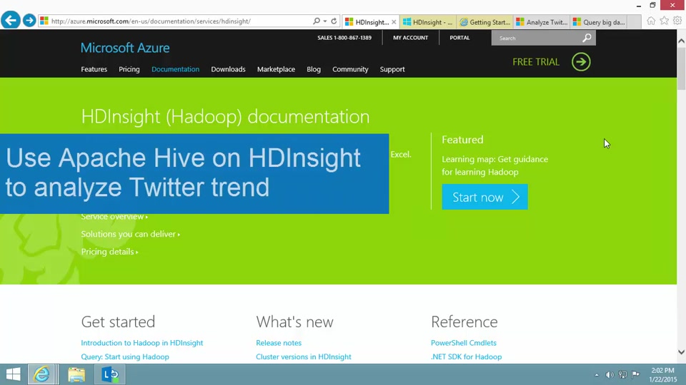 Analyze Twitter trend using Apache Hive in HDInsight