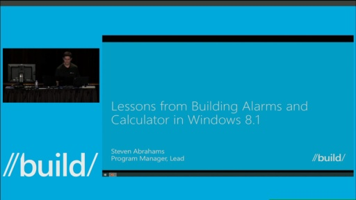 Lessons Learned from Building Alarms and Calculator for Windows 8.1